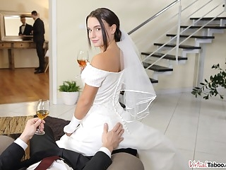 brunette Wedding Tips From Daddy - VirtualTaboo pov
