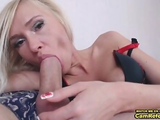 blowjob Blonde Chick Love___Is Gives Her Male Friend A Blowjob On Cam - CamReferral.com small tits