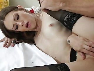 anal Alexa Nova gets fucked hard by her friend's brother - Naughty America stockings