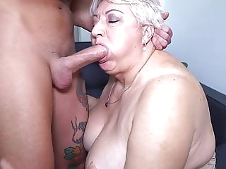 blowjob Big mom sucks and fucks her toyboy bbw
