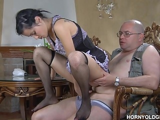 brunette Ferro Network - Veronica Leonard - Horny Old Gents cumshot