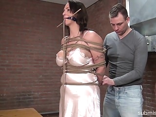 bdsm Karol Lilien & Ar in Cindy Gets Hogtied, Cleavegagged, And Stripped - KINK big tits