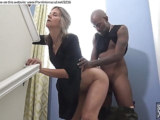 amateur blonde fucked by black guy during party blonde